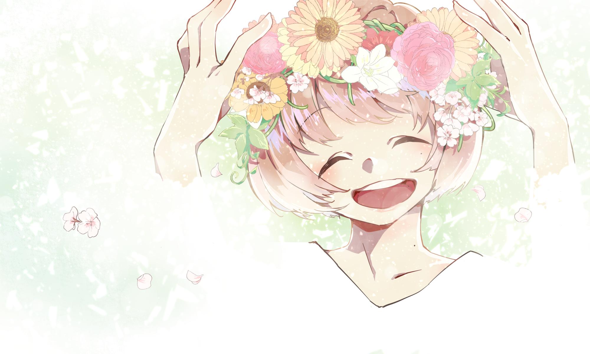 chouchou fleur